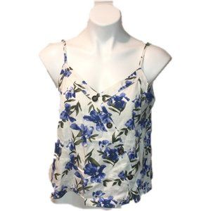 Boho Band of Gypsies V Neck Crop Top Floral